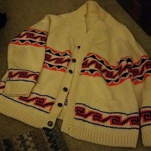 Vintage Neon Wave Sweater